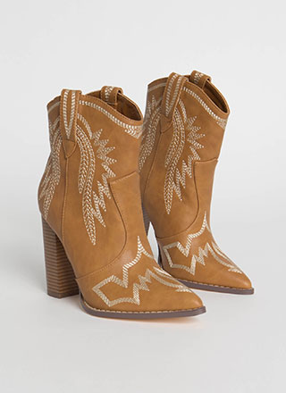 Yeehaw Chunky Scaled Cowgirl Booties