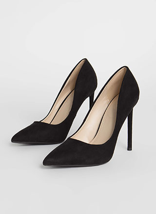 Perfect Point Faux Suede Pumps