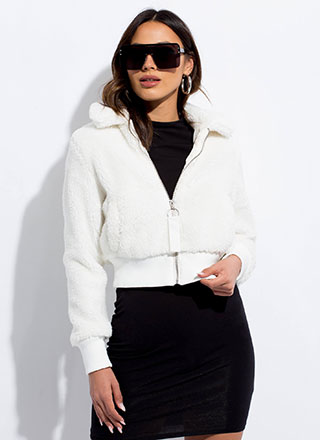 Fluff Love Faux Fur Bomber Jacket