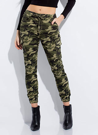 Can You See Me Now Camo Cargo Joggers