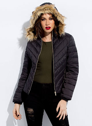Fur-ever Convertible Hooded Puffy Jacket