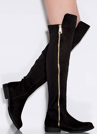 Leg Up Faux Suede Thigh-High Boots