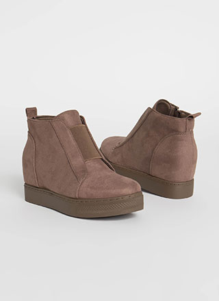 Rise To The Occasion Wedge Booties