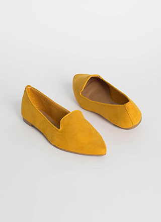 Fashion Diary Pointy Smoking Flats