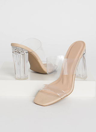 Clear Your Name Chunky Lucite Heels