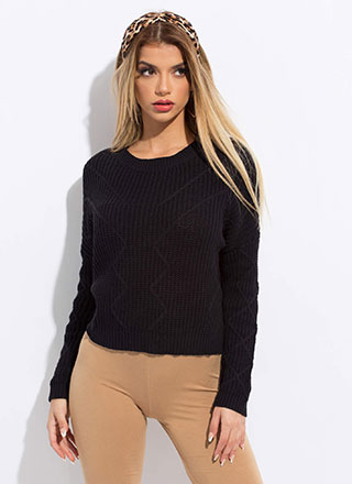 Warm Welcome Zigzag Knit Sweater