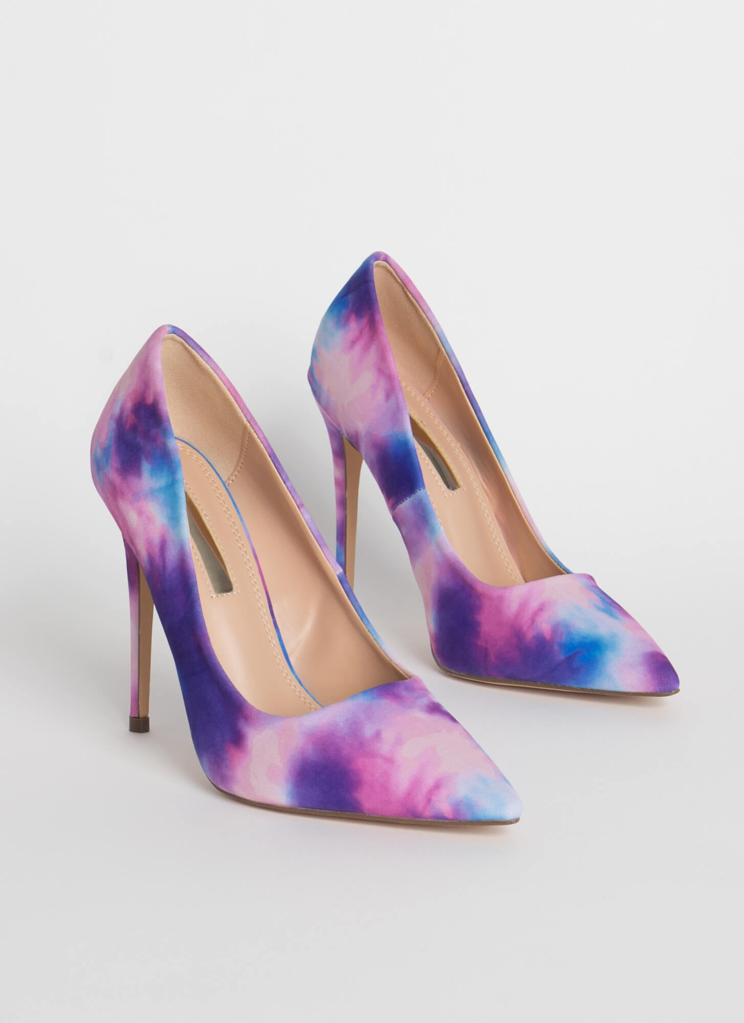 Make Me Happy Pointy Tie-Dye Pumps