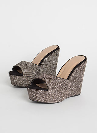 Just Jewels Peep-Toe Platform Wedges