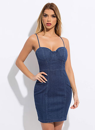 You're Such A Sweetheart Denim Dress