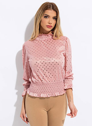 The Perfect Spot Frilly Polka Dot Blouse