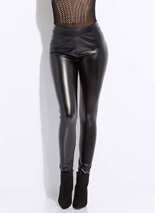 Keep My Cool Skinny Faux Leather Pants