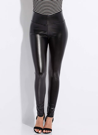 Keep My Cool Faux Leather Skinny Pants