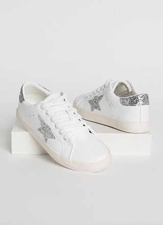 Fashion Star Glittery Platform Sneakers