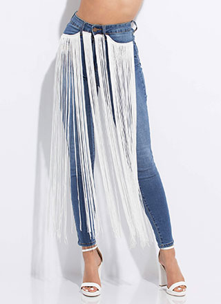 Motion Activated Waterfall Fringe Jeans
