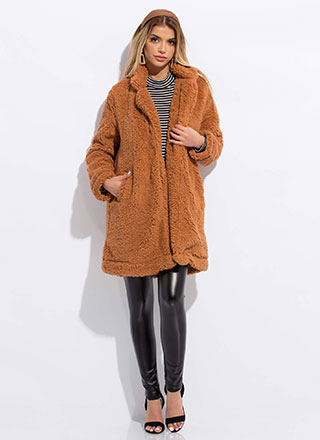 Let's Furry Up Faux Shearling Coat