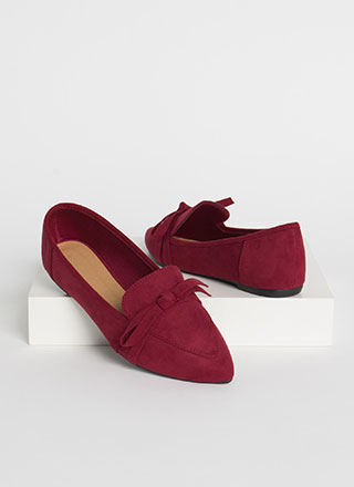 Ready Or Knot Bow Strap Loafer Flats