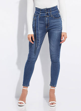 Under My Belt High-Waisted Skinny Jeans