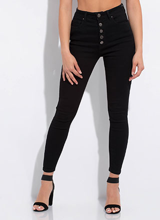 Button-Fly Girl High-Waisted Jeans