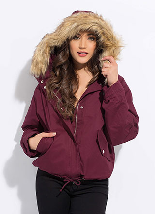 Always And Fur-Ever Hooded Jacket