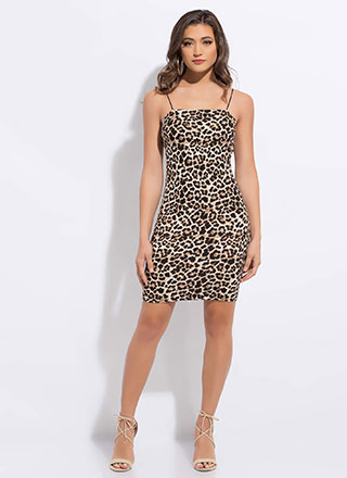Worth Your Wild Leopard Print Dress