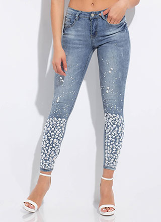 My Own Little Bubbles Jeweled Jeans