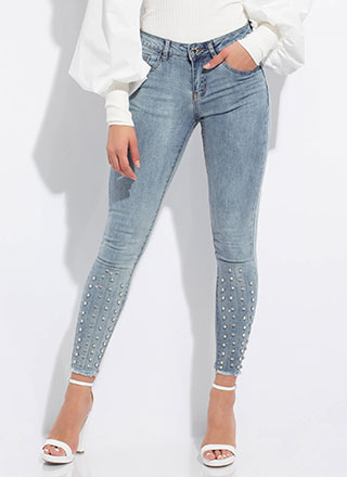 Add Sparkle Jeweled Mineral Wash Jeans