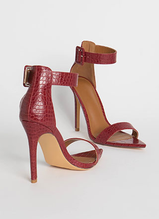 Crocodile Huntress Ankle Strap Heels