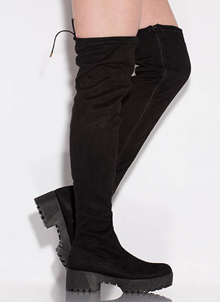 Power Platform Chunky Thigh-High Boots