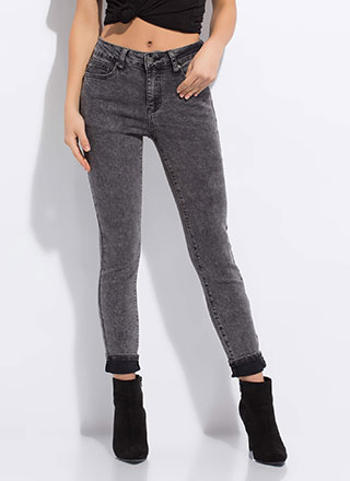 Too Cool Mineral Wash Skinny Jeans