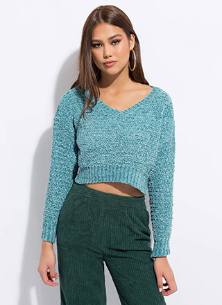 Knit Goes Both Ways Cropped Sweater
