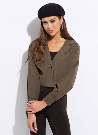 Model Under Cover Cropped Jacket
