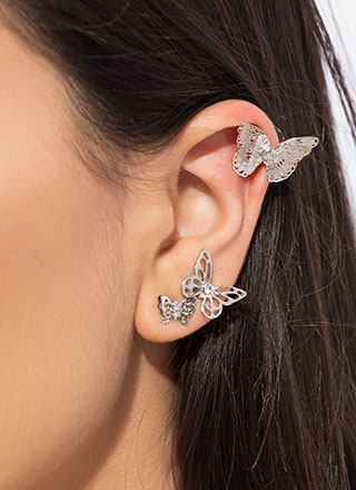Spread Your Wings Butterfly Earring Trio