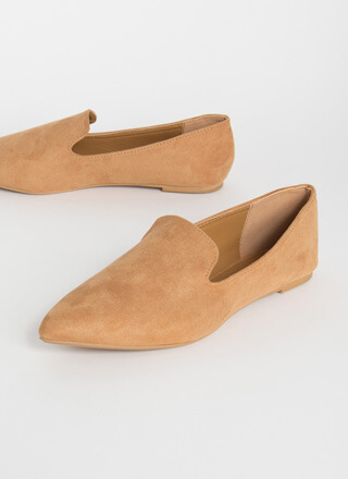 Sophistication Pointy Smoking Flats