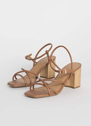 Wood You Rather Strappy Block Heels