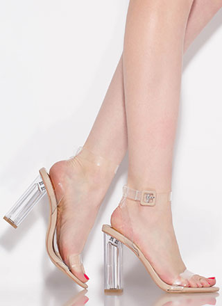 Clear Illusion Chunky Lucite Heels