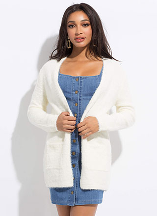 Killin' Me Softly Fuzzy Knit Cardigan