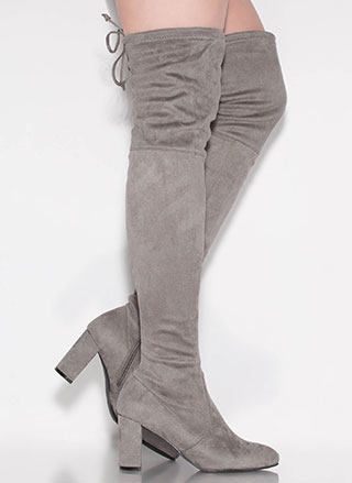 Most Wanted Chunky Thigh-High Boots