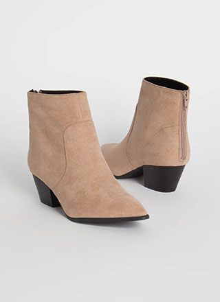 Mystique Pointy Faux Suede Booties