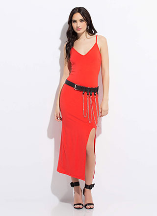 Down For Anything Slit Maxi Dress