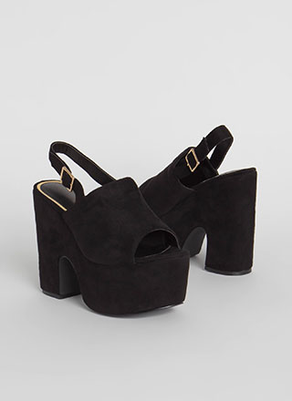 Super Retro Chunky Peep-Toe Platforms