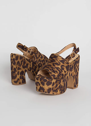 Super Retro Chunky Leopard Platforms