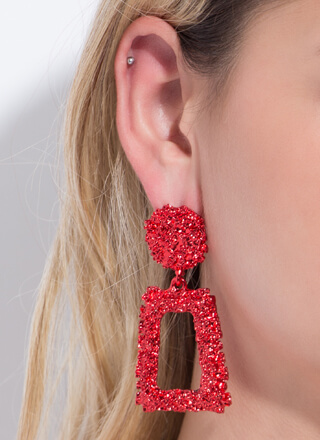 Frame Of Mind Textured Earrings