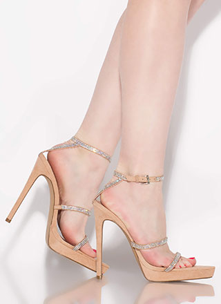 Strapped For Sparkle Jeweled Heels