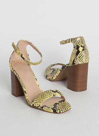 Reptile Crossing Chunky Scaled Heels