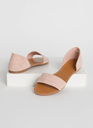 Simply Chic Faux Suede Sandals