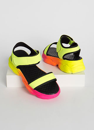 High Jump Sporty Ombre Platform Sandals