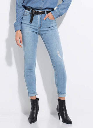 Snag These High-Waisted Skinny Jeans