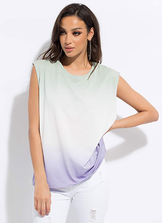 Triple Dip Ombre Muscle Tank Top