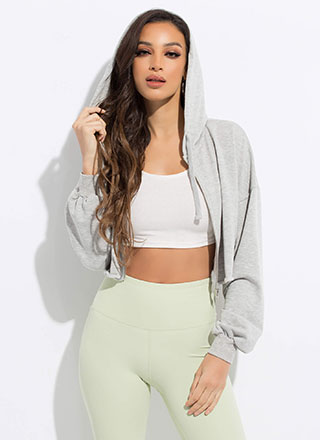 Crop It Like It's Hot Hooded Jacket