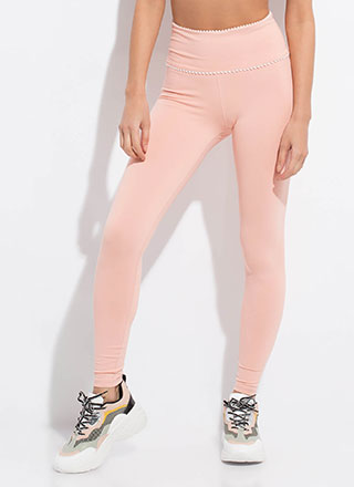 Shake Your Pom-Pom Trimmed Leggings